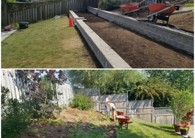 JRC Landscaping terraced retaining walls provide usable space in a backyard