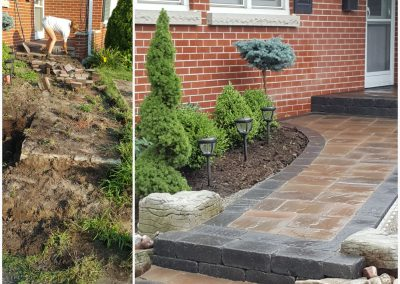 From tear up to front door walkway transformation, the JRC Landscaping team is there for you.