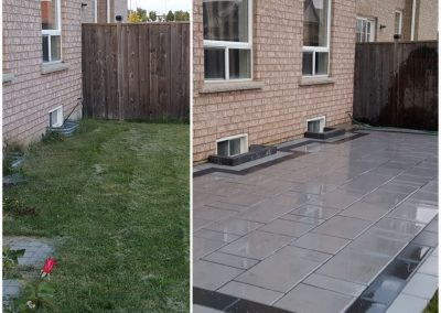 JRC Landscaping - New patio transforms window wells into a design accent feature