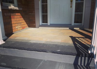 JRC Landscaping transforms entry with stone overlay and new steps