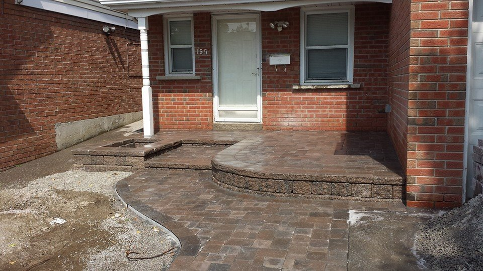 Finished Installation of the new stone walkway by JRC Landscaping
