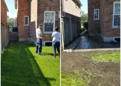 JRC Landscaping Solves yard drainage problem for Ajax client
