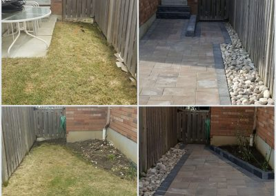 JRC Landscaping transforms flooding yard with stone patio and rock gardens